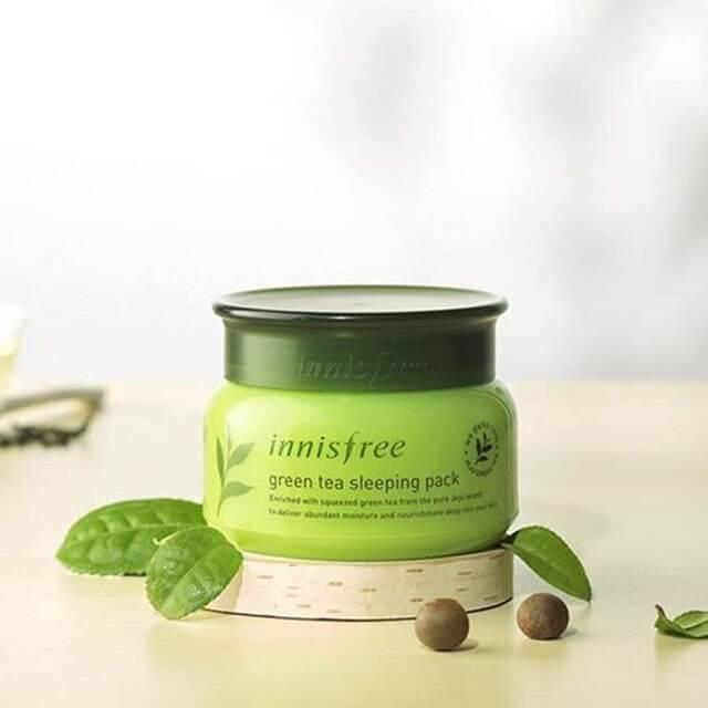 Innisfree Green Tea Sleeping Pack - Mặt nạ ngủ trà xanh