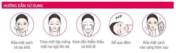 Cách sử dụng mặt nạ ngủ