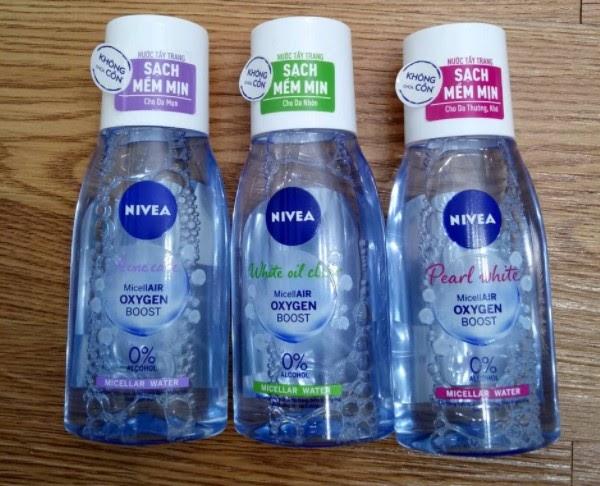 Các loại nước tẩy trang Nivea